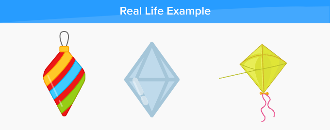 rhombus real life example