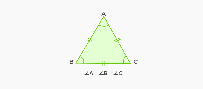examples of equiangular triangle