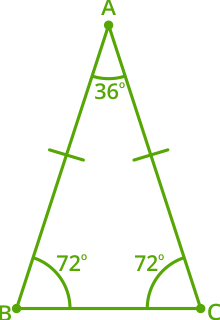 isosceles triangle example 1