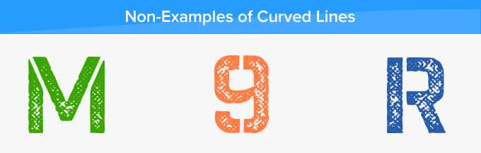 curved lines non examples