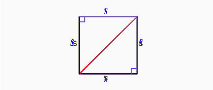 isosceles right triangles