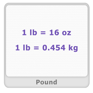 Pound Worksheet