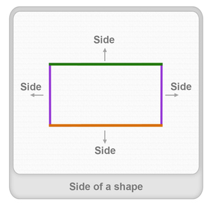 Side of a shape Worksheet