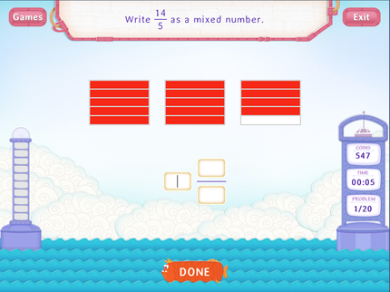 Mixed Numbers As Fractions