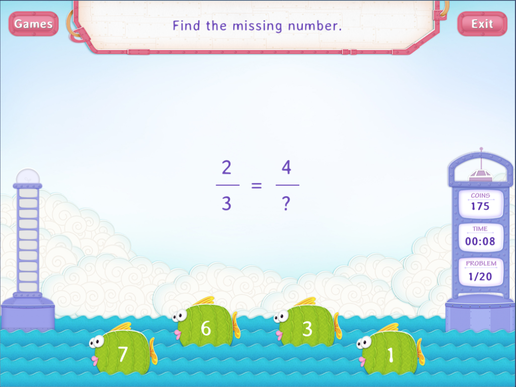Equivalent fractions without models Worksheet