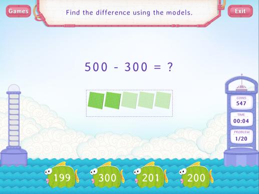 Subtract multiples of 100 Worksheet