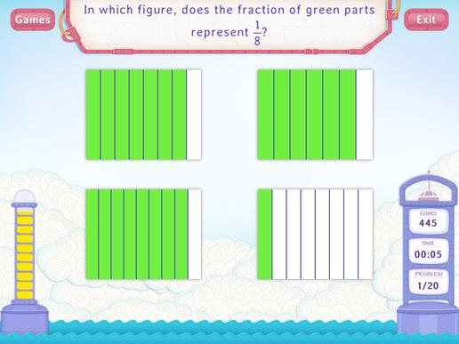 Identify fractions Worksheet