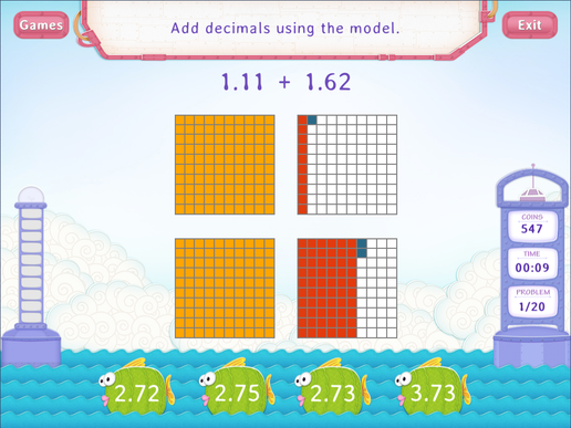 Add Decimals Using Models Practice With Fun Math Worksheet