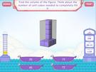 Volume using unit cubes