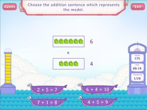 Addition sentences within 20 Worksheet