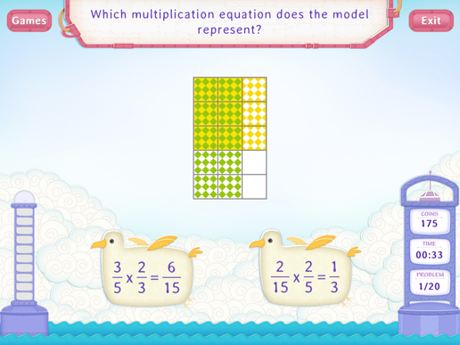 Multiply fractions Worksheet