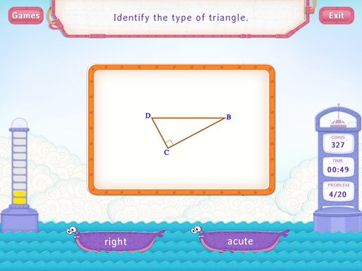 Types of triangles Worksheet