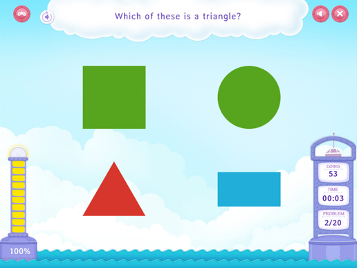 Identify two dimensional shapes Worksheet