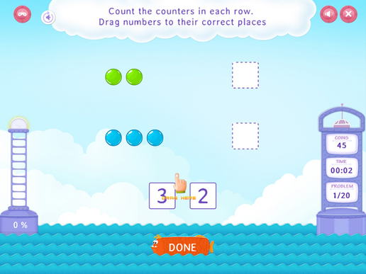 Count with counters Worksheet